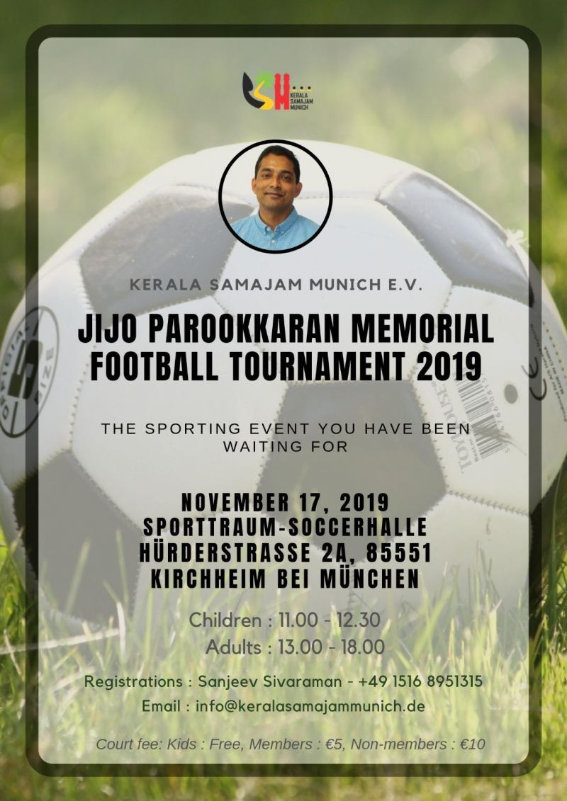 Photo #1 - Germany - Otta Nottathil - football_jijo_parokkaran_memmorial_munich